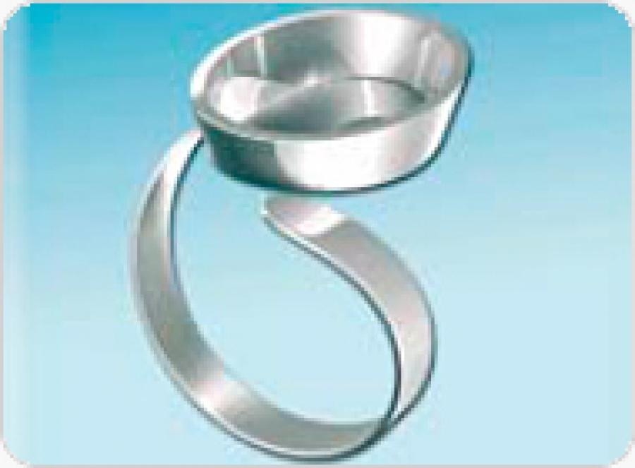 fimo schmuck metallring ring. Black Bedroom Furniture Sets. Home Design Ideas